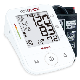 Rossmax Automatic Blood Pressure Monitor X5 with PARR technology.