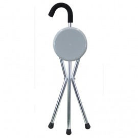 Folding Aluminium Tripod Cane Portable Walking Stick With Seat